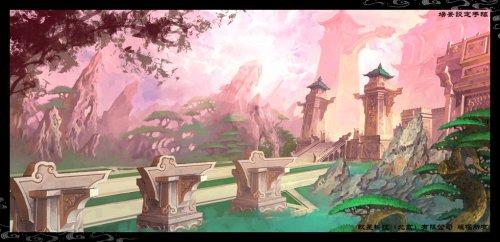 《仙剑奇侠传五》设定手稿-场景